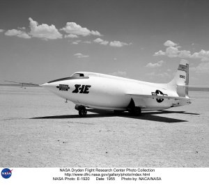 X-1E on Lakebed
