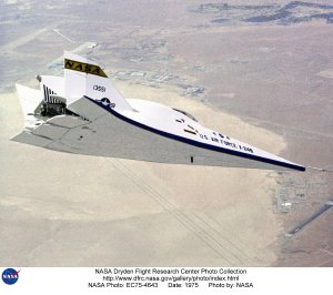 X-24B in Flight above Lakebed