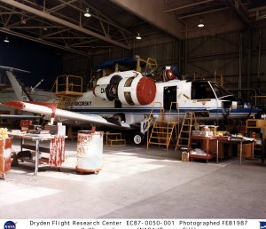 X-Wing Research Vehicle in Hangar