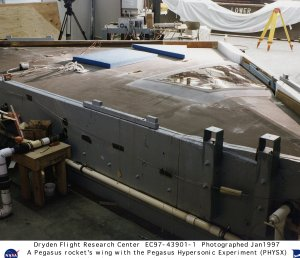 Pegasus Rocket Wing and PHYSX Glove Undergoes Stress Loads Testing