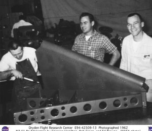 M2-F1 fabrication by Grierson Hamilton, Bob Green, and Ed Browne