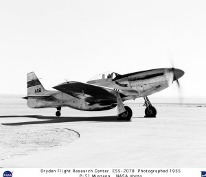 P-51 Mustang on Lakebed