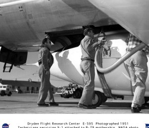 X-1 attached to B-29 mothership