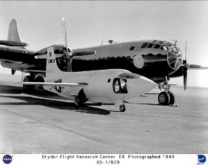 XS-1 on ramp with B-29 mothership