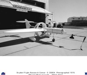 Oblique Wing Research Aircraft on ramp