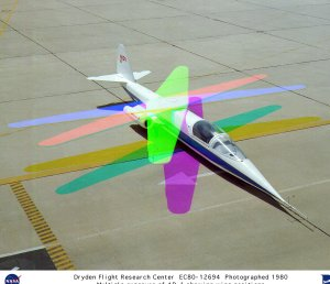 AD-1 multiple exposure showing wing sweep