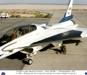 F-16XL Ship #2 SLFC - with wing glove on ramp