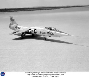 F-104A on lakebed
