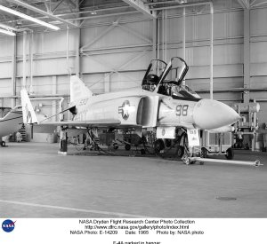 F-4A parked in hangar