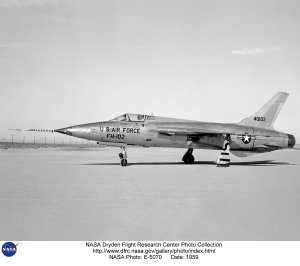 F-105B on lakebed