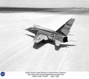 F-107A on lakebed