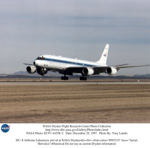 DC-8 Airborne Laboratory arrival at NASA Dryden