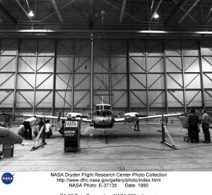PA-30 Twin Comanche - NASA 808 in hangar