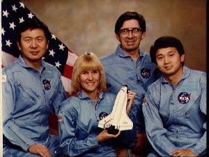Portrait of of payload specialists for 51-B mission