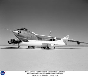 NACA Aircraft Fleet on lakebed - D-558-II and B-47A Stratojet