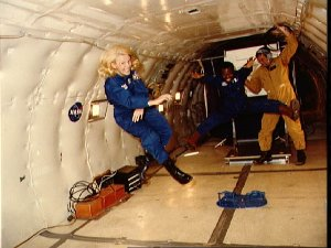 KC-135 Zero Gravity as experienced by Astronauts Seddon and McNair