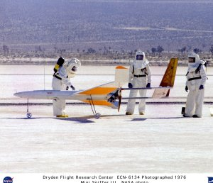 Mini-Sniffer III on Lakebed with Ground Support Crew
