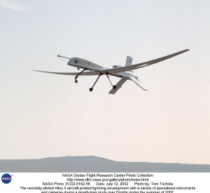 The remotely piloted Altus II aircraft probed lightning development with a variety of specialized in