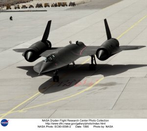 Taxi Arrival of Second SR-71 to Dryden
