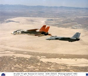 F-14 #991 in flight with US Navy F-14