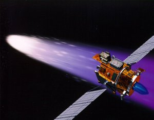 Deep Space 1 Using its Ion Engine (Artist's Concept)