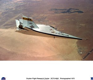 X-24B over Edwards AFB