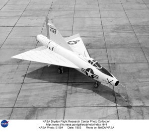 XF-92A on Ramp, Side View