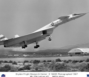 XB-70A taking off