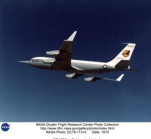 KC-135A in flight - winglet study