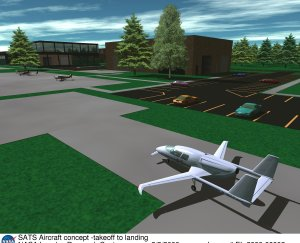 SATS Aircraft concept -takeoff to landing