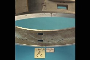PRATT AND WHITNEY BLADE DAMAGE FROM 9X15 FOOT LOW SPEED WIND TUNNEL