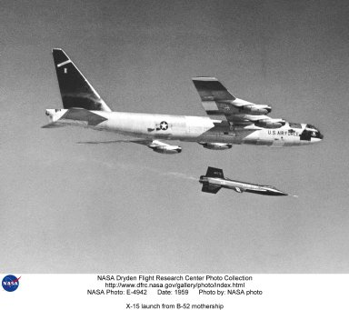 X-15 launch from B-52 mothership