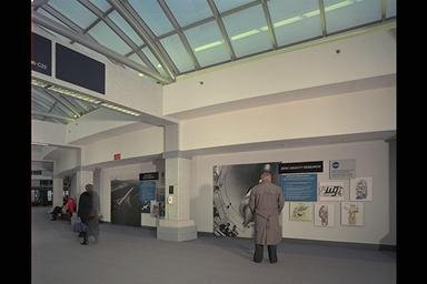 NASA LEWIS RESEARCH CENTER DISPLAYS AT CLEVELAND HOPKINS INTERNATIONAL AIRPORT CLEVELAND OHIO