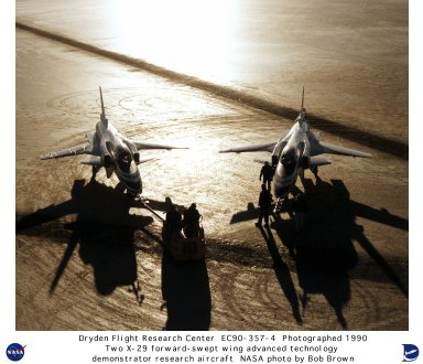 X-29 Ships #1 and #2 on Lakebed