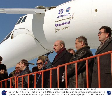 Russian Tu-144LL SST Roll-out for Joint NASA Research Program