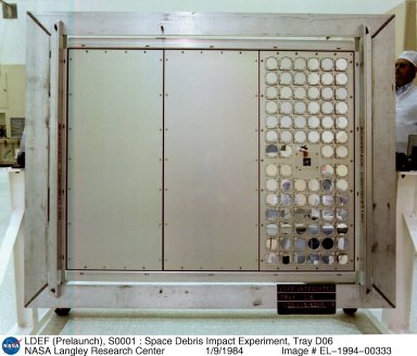 LDEF (Prelaunch), S0001 : Space Debris Impact Experiment, Tray D06