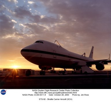 STS-92 - Shuttle Carrier Aircraft (SCA)