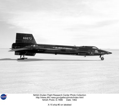 X-15 ship #3 on lakebed
