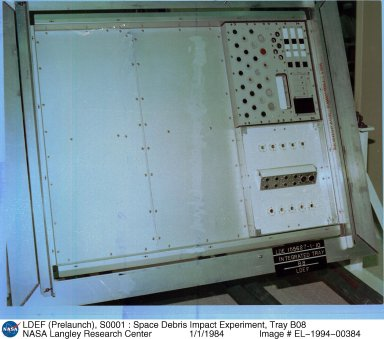 LDEF (Prelaunch), S0001 : Space Debris Impact Experiment, Tray B08