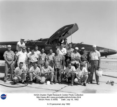 X-15 personnel July 1962