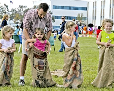 Sack Racers at Day of Play