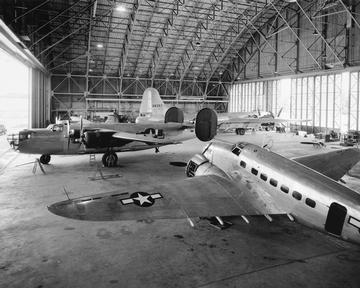 PHOTOGRAPH OF AIRCRAFT WITHIN THE HANGAR