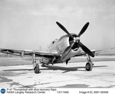 P-47 Thunderbolt with dive recovery flaps