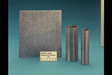 SILICON CARBIDE AND CARBON FIBERS REINFORCED TUBES AND PLATES