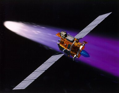 Deep Space 1 Using Its Ion Engine