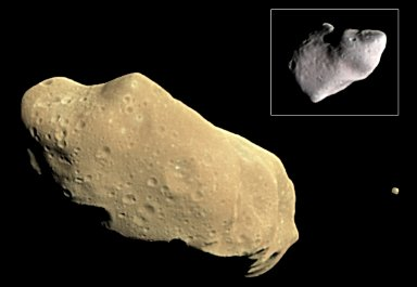 Asteroid Ida and its Satellite Dactyl in Enhanced Color