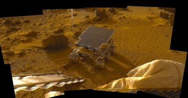 Newly Deployed Sojourner Rover