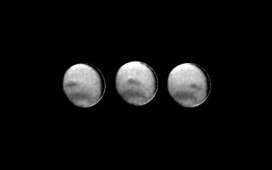 3 images of Neptune
