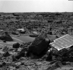 Sojourner Rover Near Half Dome - Right Eye