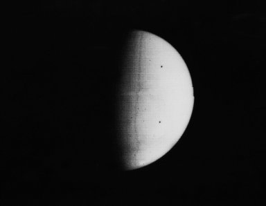 South Pole as viewed by Mariner 9 on Mars Approach